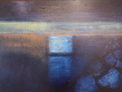Entrance: Contemporary abstract expressionist oil painting