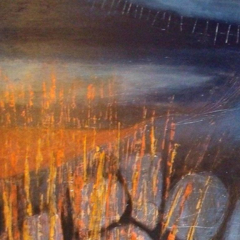 Skye Evening: Contemporary abstract expressionist oil painting - Abstract Expressionist Mixed Media Art by Patricia McParlin