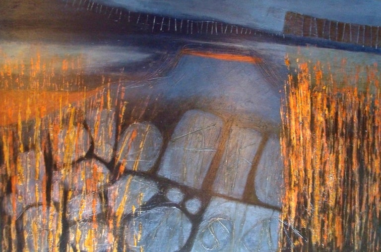 Skye Evening: Contemporary abstract expressionist oil painting - Mixed Media Art by Patricia McParlin