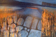 Skye Evening: Contemporary abstract expressionist oil painting