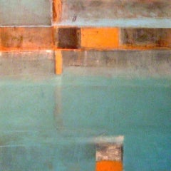 Above And Below: Contemporary abstract expressionist oil painting