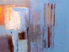 Fragment. Contemporary Abstract Mixed Media on Canvas Painting