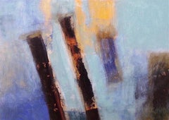 Transient. Contemporary Abstract Mixed Media on Canvas Painting