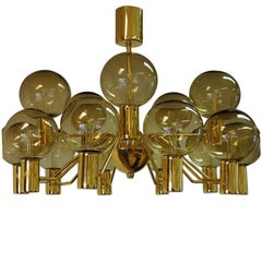Patricia T372/15 Chandelier from 1960s by Hans-Agne Jakobsson, Markaryd, Sweden