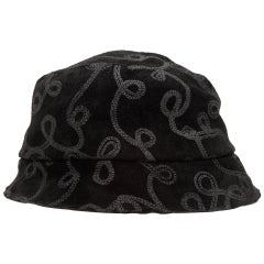 Patricia Underwood Black Patterned Bucket Hat