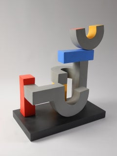Assembly by Patricia Volk - Abstract ceramic sculpture, painted clay