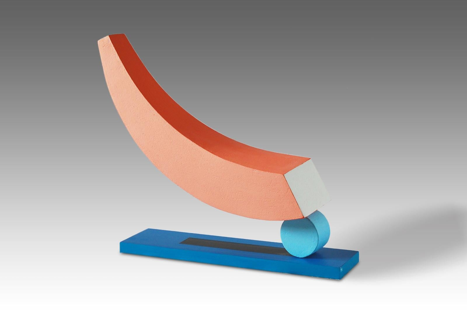 Float by Patricia Volk - Abstract ceramic sculpture, painted clay