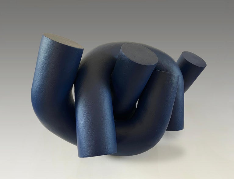 Hold by Patricia Volk - Abstract ceramic sculpture, painted clay For Sale 1