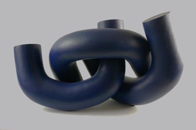Hold by Patricia Volk - Abstract ceramic sculpture, painted clay For Sale 2