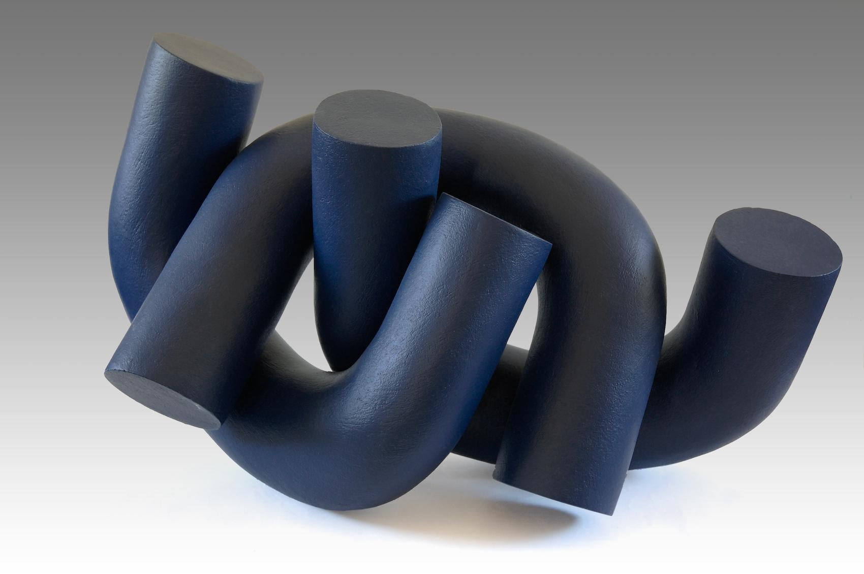 Hold by Patricia Volk - Abstract ceramic sculpture, painted clay