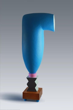 Serendipity 2 by Patricia Volk - Abstract ceramic sculpture, painted clay, totem