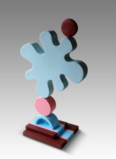 Thinks by Patricia Volk - Abstract ceramic sculpture, painted clay
