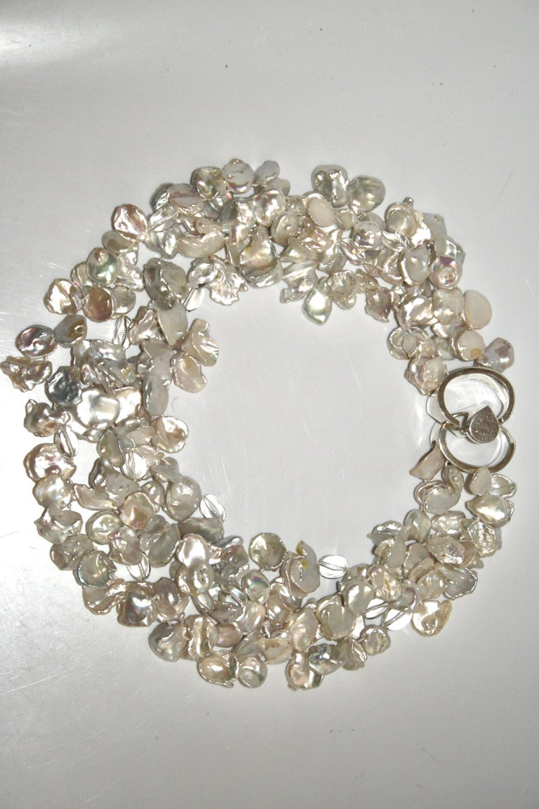 Patricia von Musulin Baroque Pearl and Rock Crystal Necklace In New Condition For Sale In Virginia Beach, VA