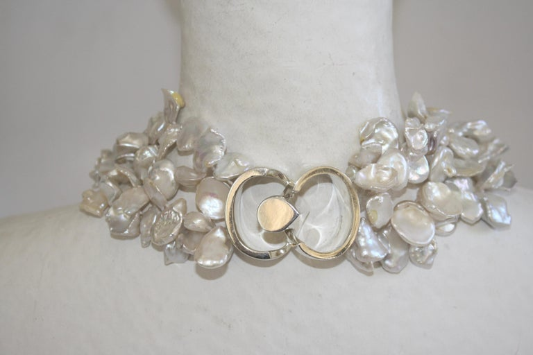 Women's or Men's Patricia von Musulin Baroque Pearl and Rock Crystal Necklace For Sale