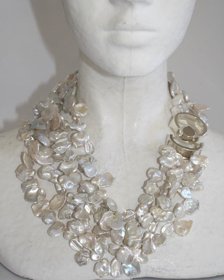 Patricia von Musulin Baroque Pearl and Rock Crystal Necklace For Sale 1