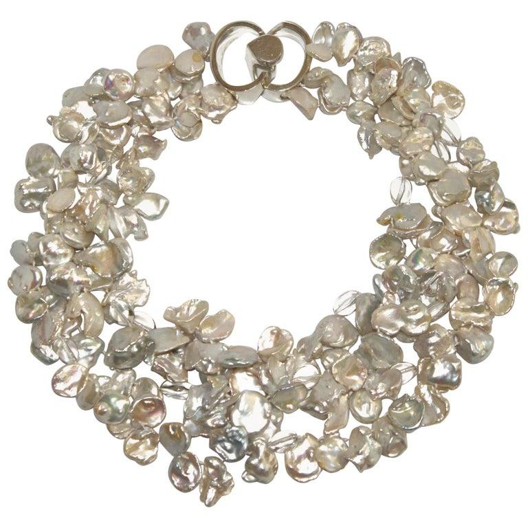 Patricia von Musulin Baroque Pearl and Rock Crystal Necklace For Sale