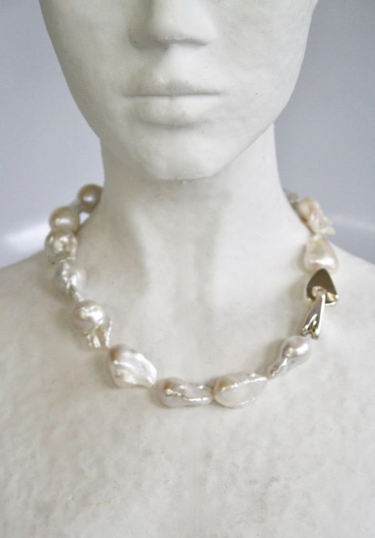 Women's Patricia von Musulin Baroque Pearl and Sterling Silver Necklace For Sale