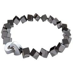 Patricia von Musulin Hematite Cube Necklace