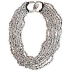 Patricia von Musulin Rock Crystal and Japanese Silk Necklace