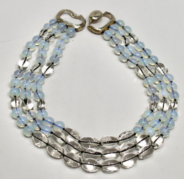 Bead Patricia von Musulin Rock Crystal and Opaline Necklace For Sale