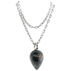 Patricia Von Musulin Sterling Silver Ebony Pendant Chain Necklace