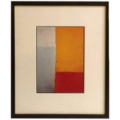 """Patricia Wilder Abstract Print Titled """"Passage"""" Framed and Matted"""