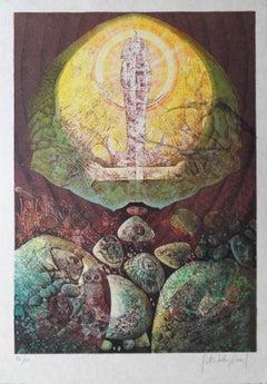 Egypt : Apparition of Toutankhamon - Handsigned lithograph, Ltd. 60 copies