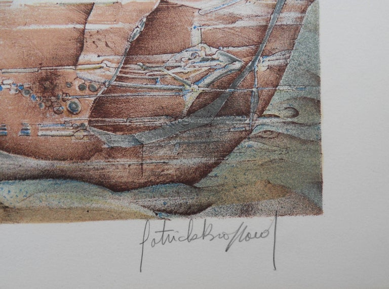 Surrealist Body - Handsigned lithograph, 125 copies - Print by Patrick Brissaud