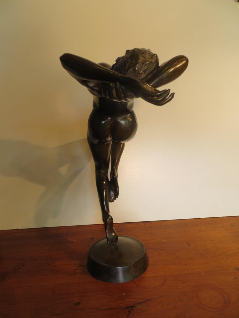 La Dance - Gold Nude Sculpture by Patrick Brun