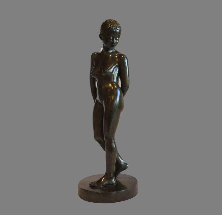 Patrick Brun Nude Sculpture - Stand Up Pose
