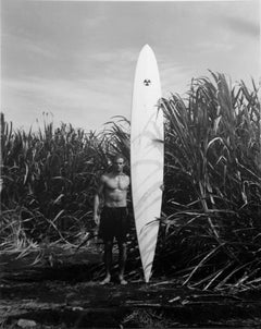 Surfer with White Board