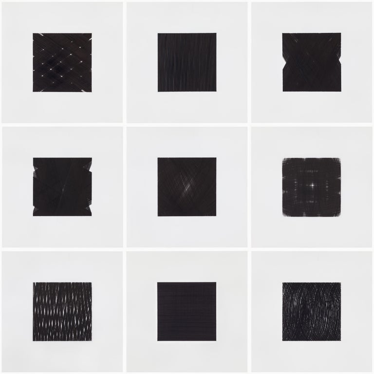 Patrick Carrara Black Ink on Mylar Drawings, Appearance Series, 2013-2015 For Sale 4