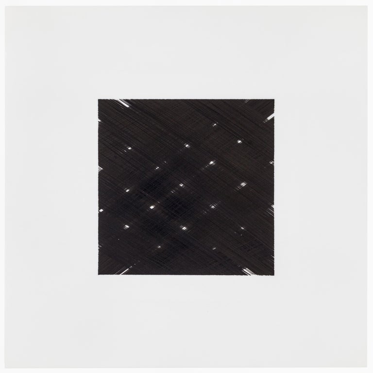 Contemporary New York artist Patrick Carrara's black ink on Mylar drawings were created in 2013 - 2015. This is his latest series Appearance, which he started ten years ago and also progresses by number. He uses black ink on Mylar, layering over and
