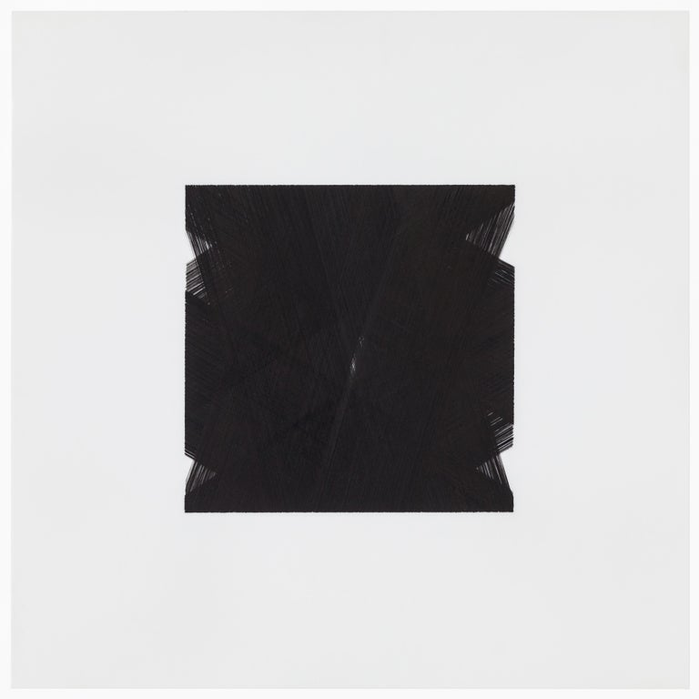Hand-Painted Patrick Carrara Black Ink on Mylar Drawings, Appearance Series, 2013-2015 For Sale