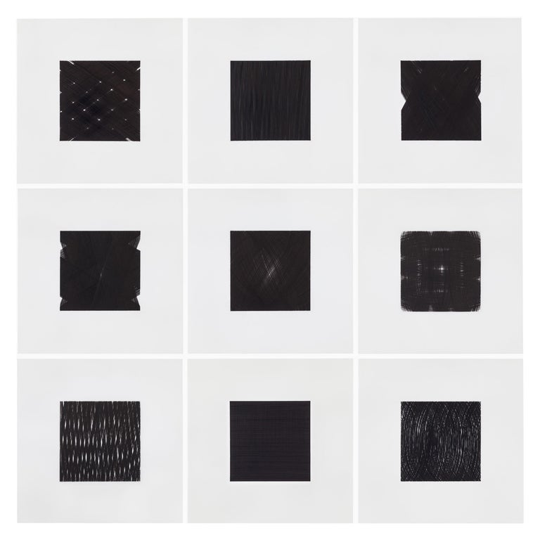 Patrick Carrara Black Ink on Mylar Drawings, Appearance Series, 2013-2015 For Sale