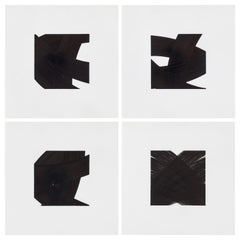 Patrick Carrara Black Ink on Mylar Drawings, Appearance Series, 2014-2017