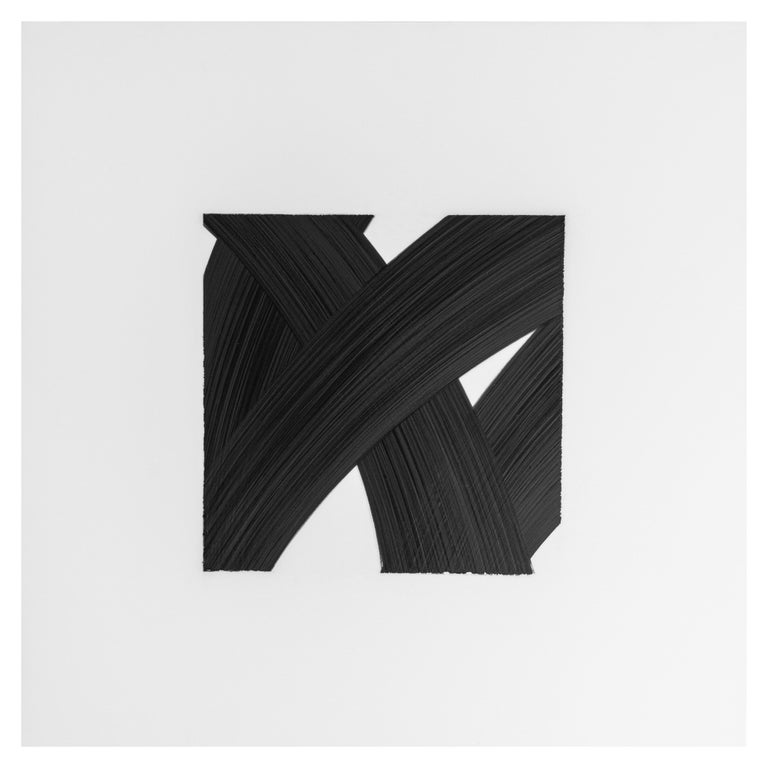 Patrick Carrara Black Ink on Mylar Drawings, Appearance Series, 2016 - 2017 For Sale 3