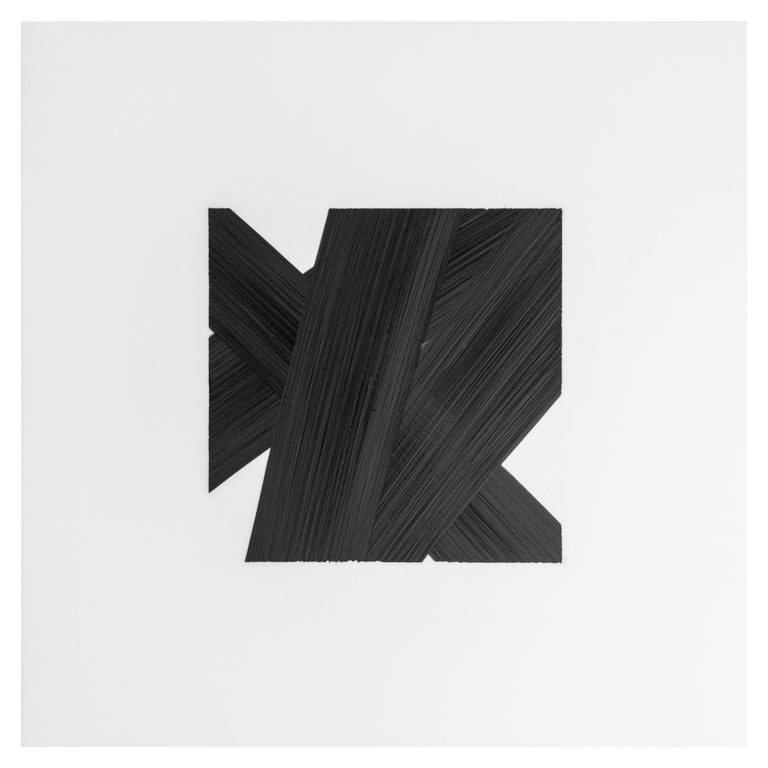 Contemporary New York artist Patrick Carrara's black ink on mylar drawings were created in 2016 - 2017. This is his latest series Appearance, which he started ten years ago and also progresses by number. He uses black ink on Mylar, layering over and
