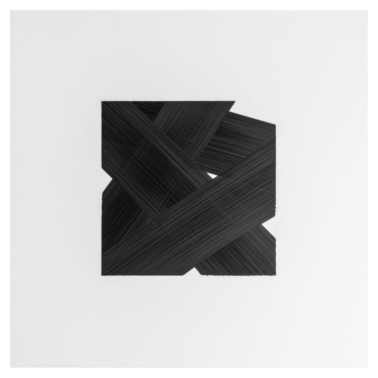Modern Patrick Carrara Black Ink on Mylar Drawings, Appearance Series, 2016-2017 For Sale