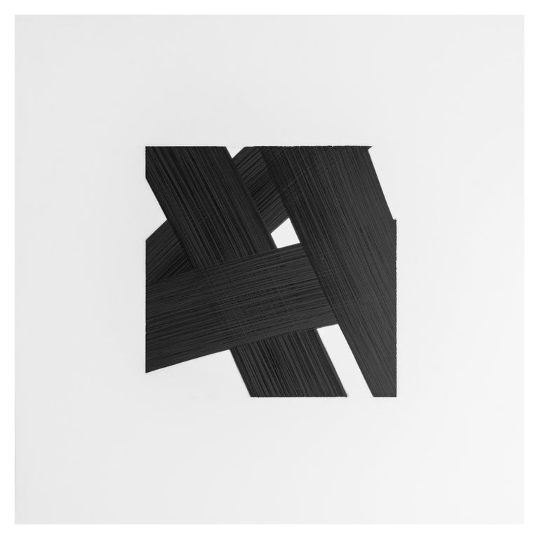 American Patrick Carrara Black Ink on Mylar Drawings, Appearance Series, 2016-2017 For Sale