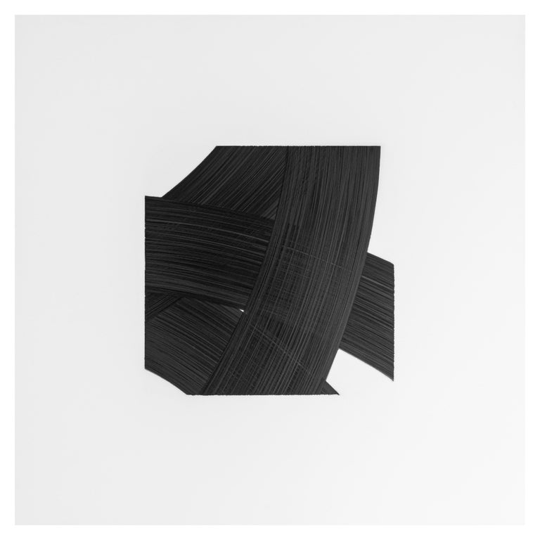 Hand-Painted Patrick Carrara Black Ink on Mylar Drawings, Appearance Series, 2016-2017 For Sale