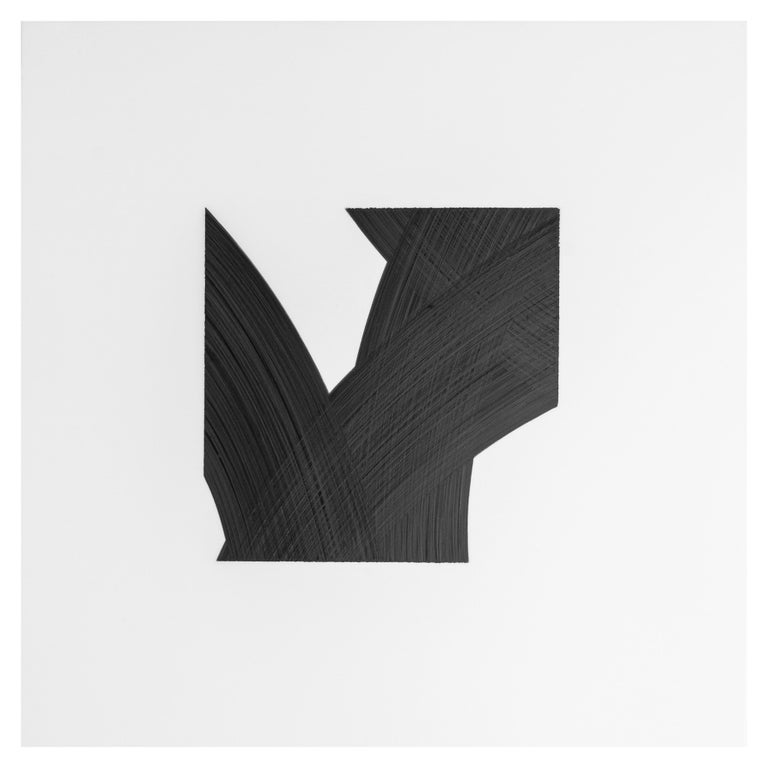 Hand-Painted Patrick Carrara Black Ink on Mylar Drawings, Appearance Series, 2016 - 2017 For Sale