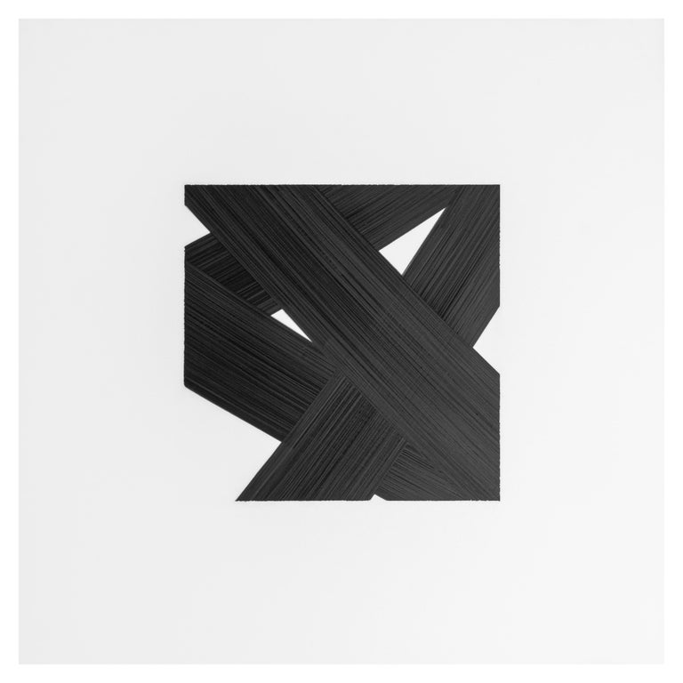 Contemporary Patrick Carrara Black Ink on Mylar Drawings, Appearance Series, 2016-2017 For Sale