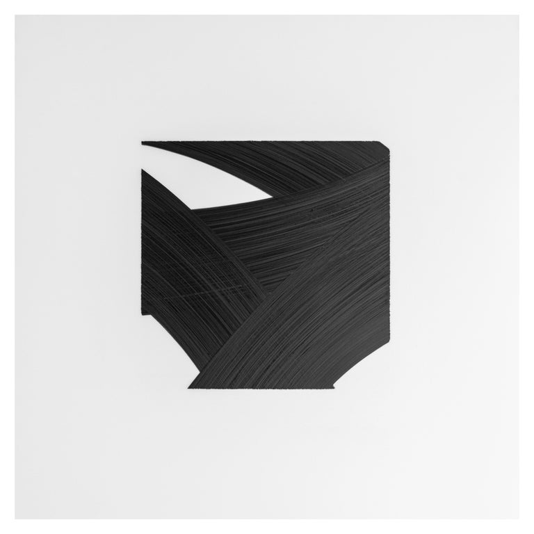 Contemporary Patrick Carrara Black Ink on Mylar Drawings, Appearance Series, 2016 - 2017 For Sale