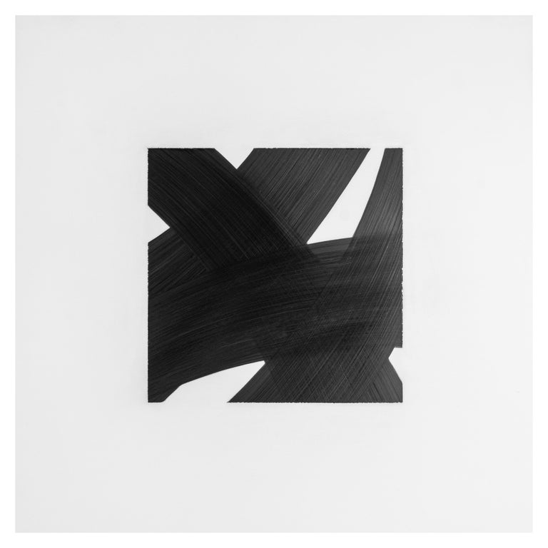 Patrick Carrara Black Ink on Mylar Drawings, Appearance Series, 2016 - 2017 For Sale 2