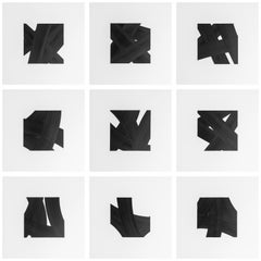 Patrick Carrara Black Ink on Mylar Drawings, Appearance Series, 2016-2017