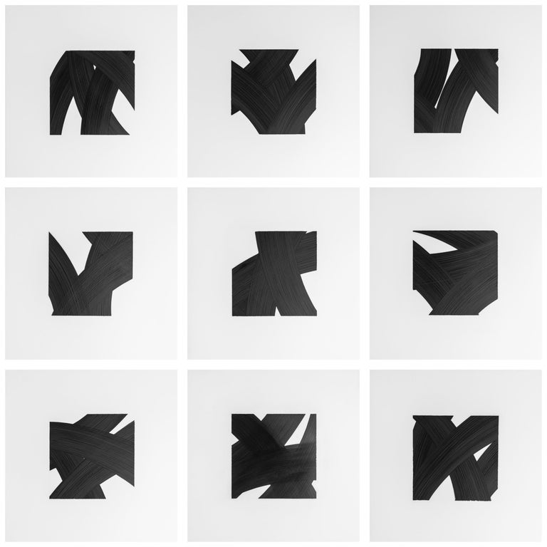 Patrick Carrara Black Ink on Mylar Drawings, Appearance Series, 2016 - 2017 For Sale