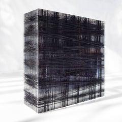 Patrick Carrara, 400 - 600 Yards #10, 2014, Nylon, Thread, Plexiglass