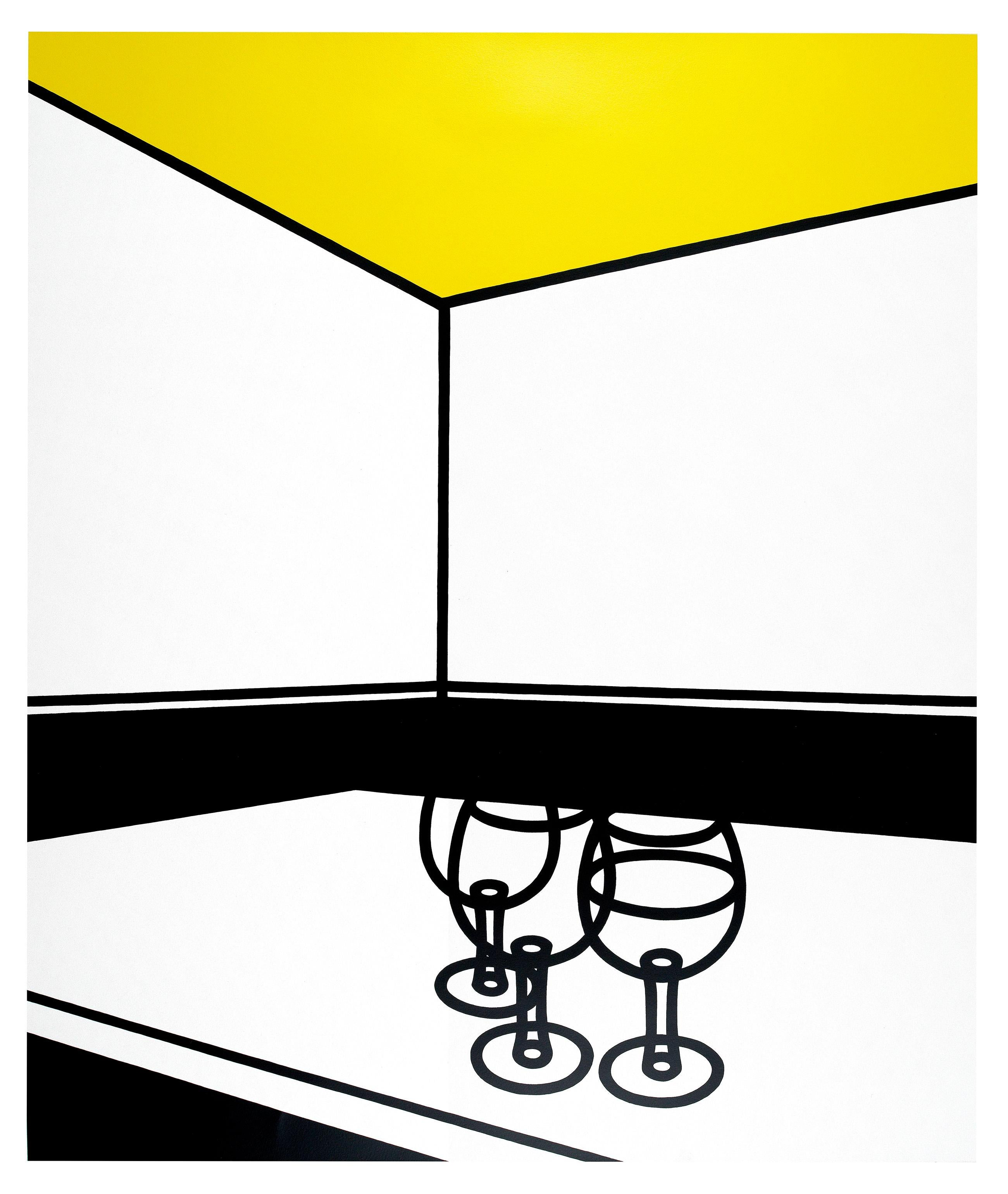 Black and White Café - Patrick Caulfield, Screenprint, Pop Art, Prints