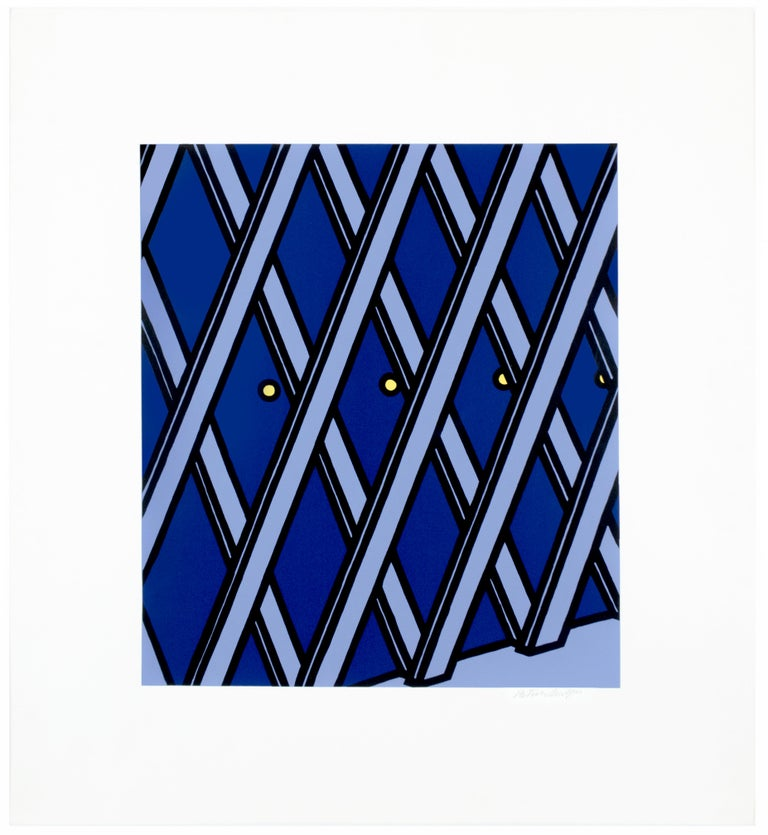 """Patrick Caulfield Landscape Print - I'll take my life monotonous from """"Some Poems of Jules Laforgue"""" graphic pop art"""